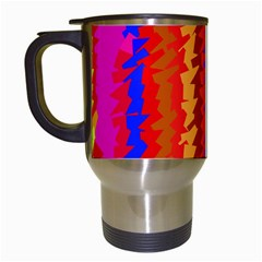 Colorful Pieces Travel Mug (white) by LalyLauraFLM