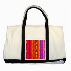 Colorful Pieces Two Tone Tote Bag by LalyLauraFLM