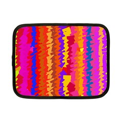 Colorful Pieces Netbook Case (small) by LalyLauraFLM