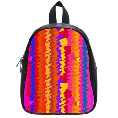 Colorful Pieces School Bag (small) by LalyLauraFLM