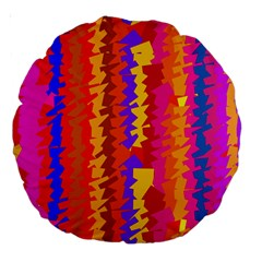 Colorful Pieces Large 18  Premium Round Cushion  by LalyLauraFLM
