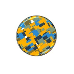 Blue Yellow Shapes Hat Clip Ball Marker (10 Pack) by LalyLauraFLM
