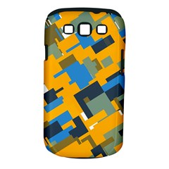 Blue Yellow Shapes Samsung Galaxy S Iii Classic Hardshell Case (pc+silicone) by LalyLauraFLM