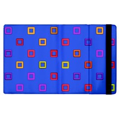 3d Squares On A Blue Background Apple Ipad 2 Flip Case by LalyLauraFLM