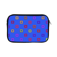 3d Squares On A Blue Background Apple Ipad Mini Zipper Case by LalyLauraFLM