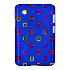 3d Squares On A Blue Background Samsung Galaxy Tab 2 (7 ) P3100 Hardshell Case  by LalyLauraFLM