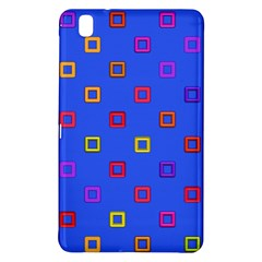 3d Squares On A Blue Background	samsung Galaxy Tab Pro 8 4 Hardshell Case by LalyLauraFLM