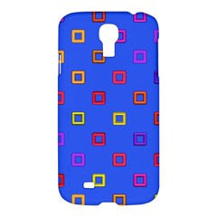 3d Squares On A Blue Background	samsung Galaxy S4 I9500/i9505 Hardshell Case $10 by LalyLauraFLM