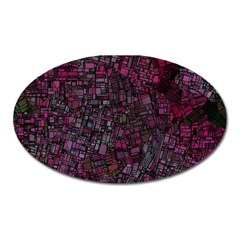 Fantasy City Maps 1 Oval Magnet by MoreColorsinLife