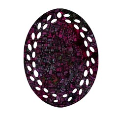 Fantasy City Maps 1 Oval Filigree Ornament (2 Side)  by MoreColorsinLife