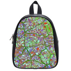 Fantasy City Maps 2 School Bags (small)  by MoreColorsinLife