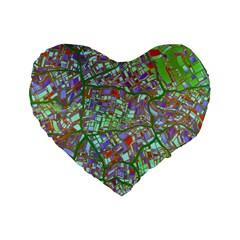Fantasy City Maps 2 Standard 16  Premium Flano Heart Shape Cushions by MoreColorsinLife