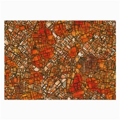 Fantasy City Maps 3 Large Glasses Cloth (2 Side) by MoreColorsinLife