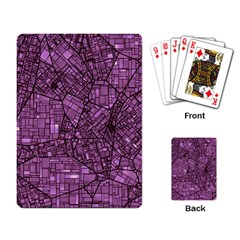 Fantasy City Maps 4 Playing Card by MoreColorsinLife