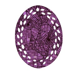 Fantasy City Maps 4 Oval Filigree Ornament (2 Side)  by MoreColorsinLife