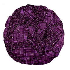 Fantasy City Maps 4 Large 18  Premium Flano Round Cushions by MoreColorsinLife