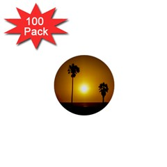 Sunset Scene At The Coast Of Montevideo Uruguay 1  Mini Buttons (100 Pack)  by dflcprints