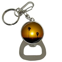 Sunset Scene At The Coast Of Montevideo Uruguay Bottle Opener Key Chains by dflcprints