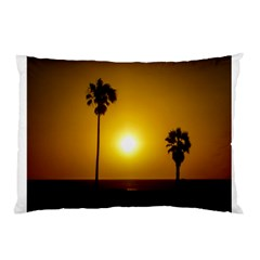 Sunset Scene At The Coast Of Montevideo Uruguay Pillow Cases (two Sides) by dflcprints