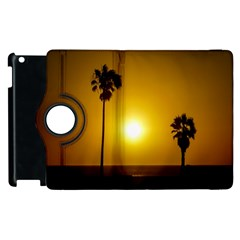 Sunset Scene At The Coast Of Montevideo Uruguay Apple Ipad 3/4 Flip 360 Case by dflcprints