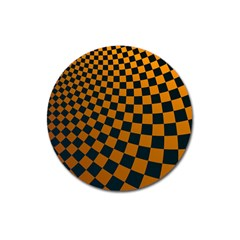 Abstract Square Checkers  Magnet 3  (round) by OZMedia