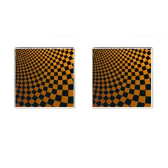 Abstract Square Checkers  Cufflinks (square)