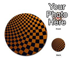 Abstract Square Checkers  Multi Purpose Cards (round)