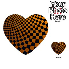 Abstract Square Checkers  Multi Purpose Cards (heart)  by OZMedia