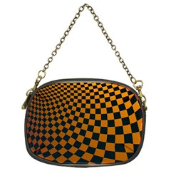 Abstract Square Checkers  Chain Purses (one Side)  by OZMedia