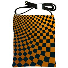 Abstract Square Checkers  Shoulder Sling Bags by OZMedia