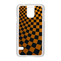 Abstract Square Checkers  Samsung Galaxy S5 Case (white)