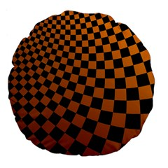 Abstract Square Checkers  Large 18  Premium Flano Round Cushions