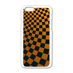 Abstract Square Checkers  Apple Iphone 6/6s White Enamel Case by OZMedia