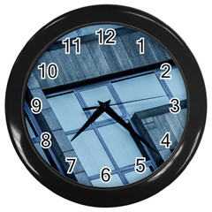 Abstract View Of Modern Buildings Wall Clocks (Black) by OZMedia