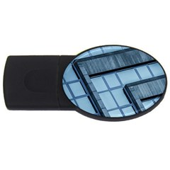 Abstract View Of Modern Buildings Usb Flash Drive Oval (2 Gb)  by OZMedia