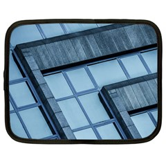 Abstract View Of Modern Buildings Netbook Case (large) by OZMedia