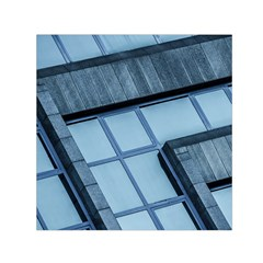 Abstract View Of Modern Buildings Small Satin Scarf (square)  by OZMedia