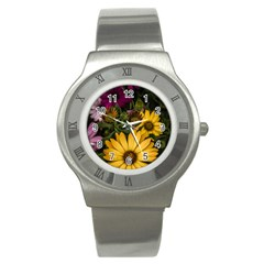 Beautiful Colourful African Daisies  Stainless Steel Watches by OZMedia