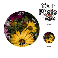 Beautiful Colourful African Daisies  Playing Cards 54 (round)  by OZMedia