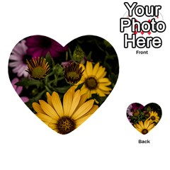 Beautiful Colourful African Daisies  Multi Purpose Cards (heart)  by OZMedia