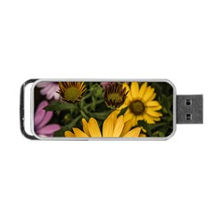 Beautiful Colourful African Daisies  Portable Usb Flash (two Sides) by OZMedia