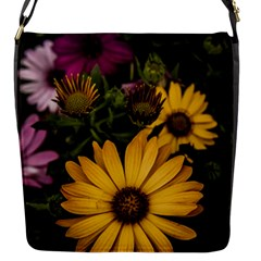 Beautiful Colourful African Daisies  Flap Messenger Bag (s) by OZMedia