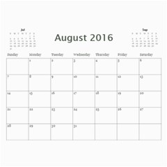 2016 Calendar Done By Mandy Morford   Wall Calendar 11  X 8 5  (12 Months)   8tec83056zar   Www Artscow Com Aug 2016
