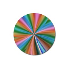 Abstract Rainbow Magnet 3  (round) by OZMedia