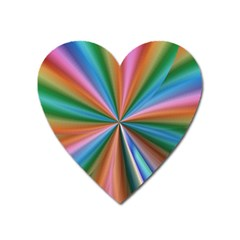 Abstract Rainbow Heart Magnet by OZMedia