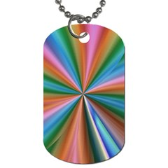 Abstract Rainbow Dog Tag (two Sides) by OZMedia