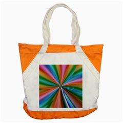 Abstract Rainbow Accent Tote Bag