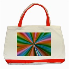 Abstract Rainbow Classic Tote Bag (red)  by OZMedia