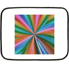 Abstract Rainbow Double Sided Fleece Blanket (mini)