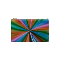 Abstract Rainbow Cosmetic Bag (small)  by OZMedia